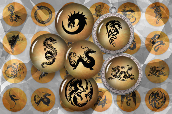 Dragons Images Dragons Cabochons Graphic Crafts By denysdigitalshop