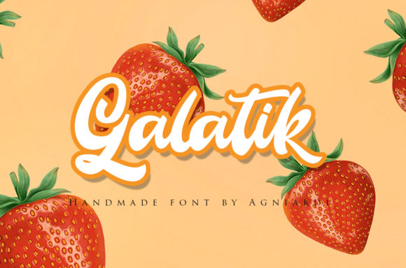 Print on Demand: Galatik Display Font By agniardii