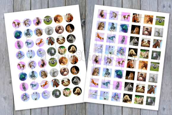 Horses Digital Collage Sheets Graphic Crafts By denysdigitalshop - Image 2