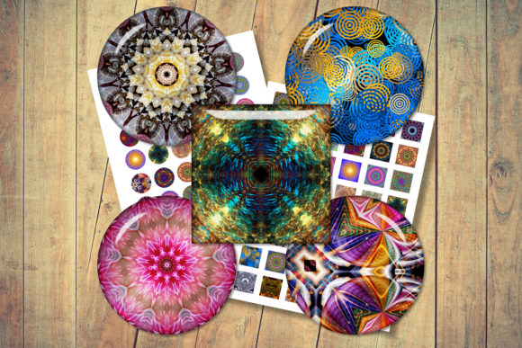 Mandala Digital Collage Sheet Graphic Crafts By denysdigitalshop