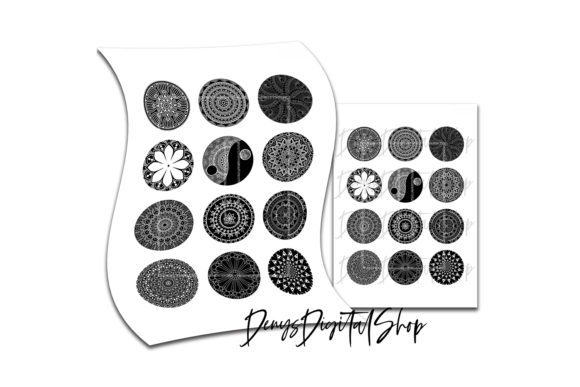 Download Free Mandala Digital Collage Sheet Graphic By Denysdigitalshop for Cricut Explore, Silhouette and other cutting machines.
