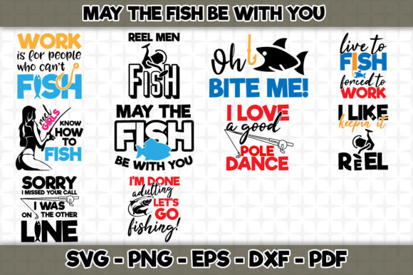 Print on Demand: May the Fish Be with You Bundle Graphic Crafts By SVGExpress - Image 1