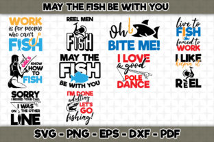 Download Free May The Fish Be With You Bundle Graphic By Svgexpress Creative SVG Cut Files