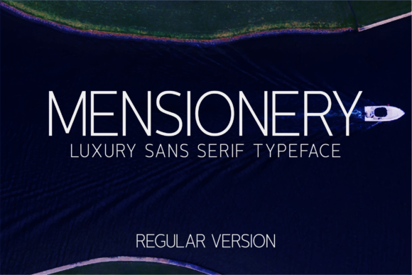 Print on Demand: Mensionery Sans Serif Font By Huntype