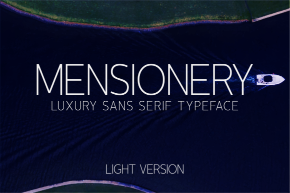 Print on Demand: Mensionery Light Sans Serif Font By Huntype