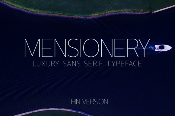 Print on Demand: Mensionery Thin Sans Serif Font By Huntype