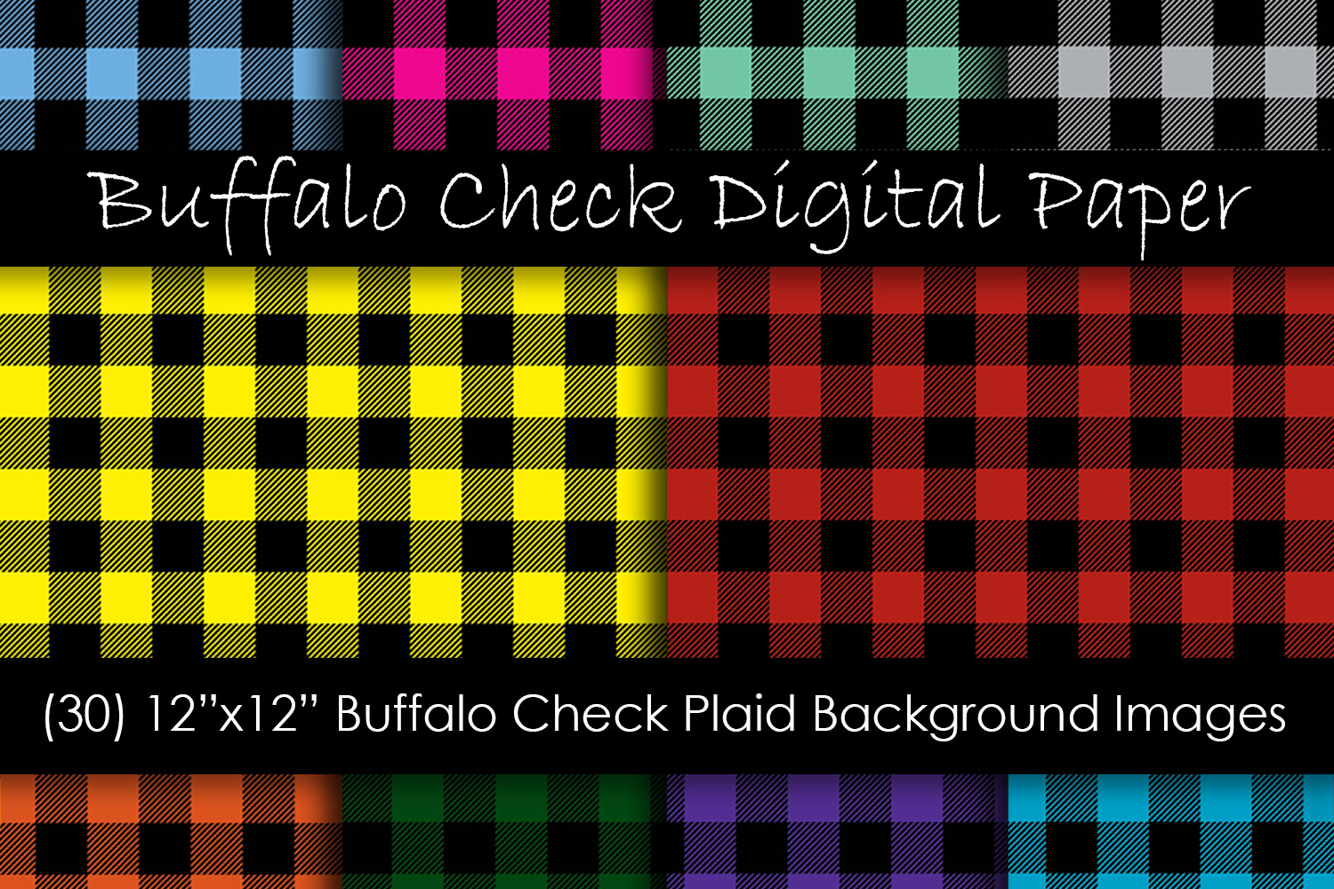 Download Free Multi Color Buffalo Check Plaid Patterns Graphic By Gjsart for Cricut Explore, Silhouette and other cutting machines.
