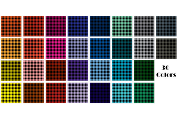 Multi-Color Buffalo Check Plaid Patterns Graphic Patterns By GJSArt - Image 2
