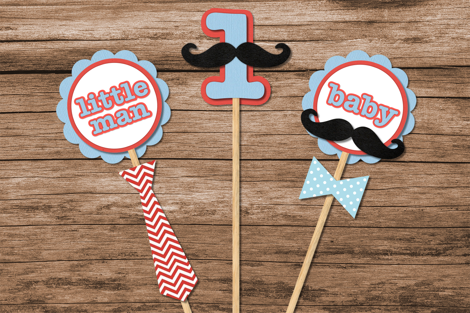 Download Free Mustache Bash Party Decor Svg Design Set Graphic By Risarocksit for Cricut Explore, Silhouette and other cutting machines.