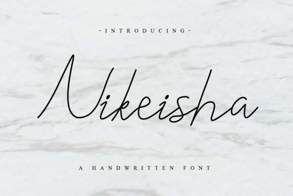 Print on Demand: Nikeisha Script & Handwritten Font By EdricStudio