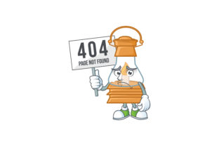 Oil Lamp Cartoon Character With Error Graphic By Kongvector2020