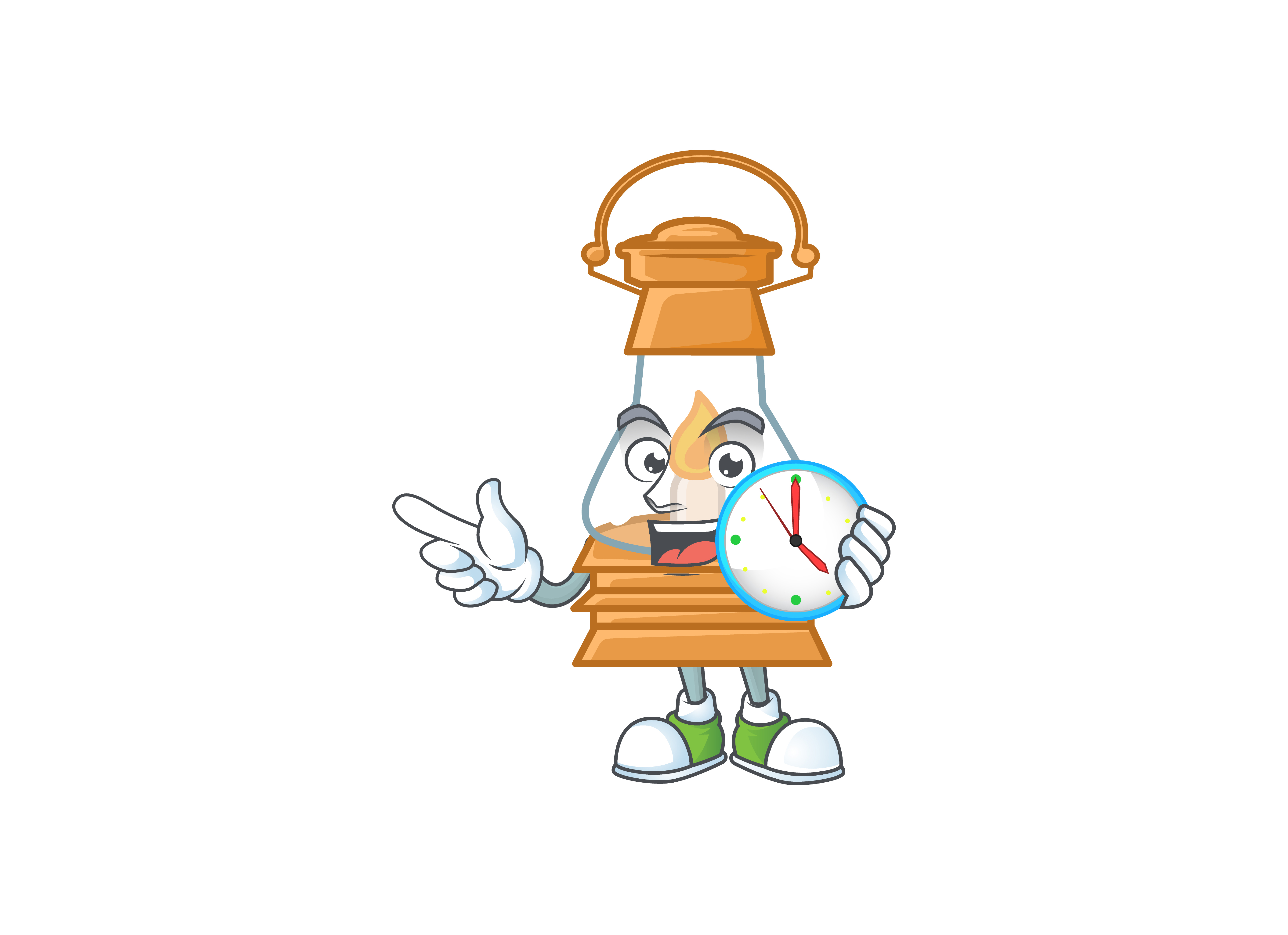 Download Free Oil Lamp Cartoon Character Style Graphic By Kongvector2020 Creative Fabrica for Cricut Explore, Silhouette and other cutting machines.