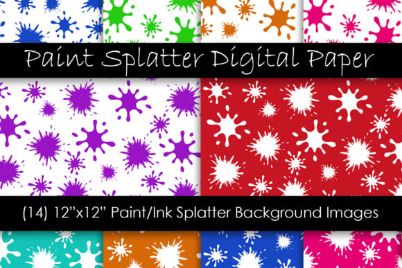 Paint Splatter Pattern Backgrounds Graphic Patterns By GJSArt