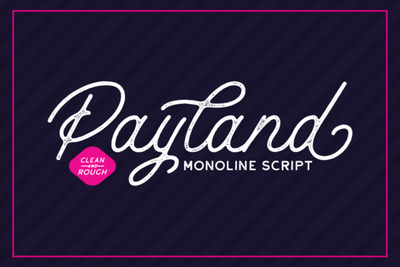 Print on Demand: Payland Script & Handwritten Font By Rillatype