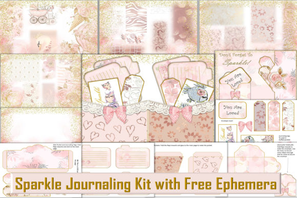 Print on Demand: Printable Journaling Kit & Ephemera Grafik Plotterdateien von The Paper Princess
