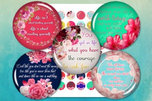 Quotes Digital Collage Sheet Graphic Crafts By denysdigitalshop