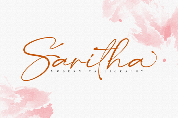 Print on Demand: Saritha Script & Handwritten Font By Bluestudio
