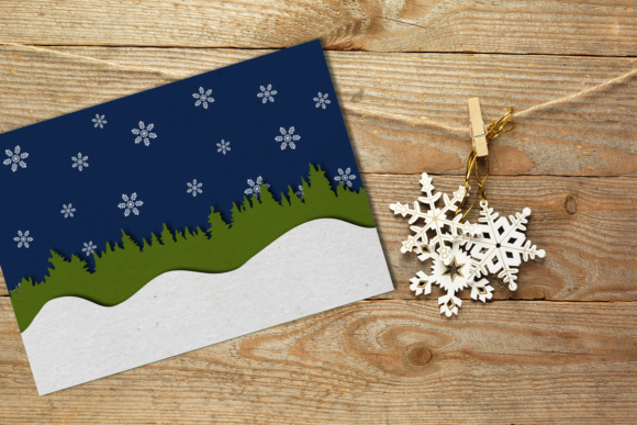Seamless Winter Snow Scene with Deer Graphic Crafts By RisaRocksIt - Image 3