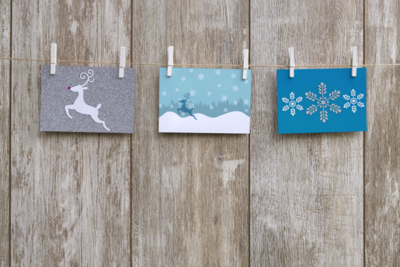 Seamless Winter Snow Scene with Deer Graphic Crafts By RisaRocksIt - Image 4