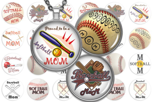 Download Free Softball Collage Sheet Baseball Images Graphic By for Cricut Explore, Silhouette and other cutting machines.