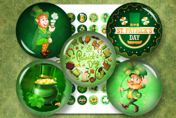 Download Free St Patrick S Day Digital Collage Sheet Graphic By for Cricut Explore, Silhouette and other cutting machines.