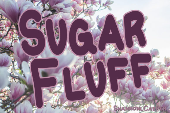 Download Free Sugar Fluff Font By Shannon Casper Creative Fabrica for Cricut Explore, Silhouette and other cutting machines.