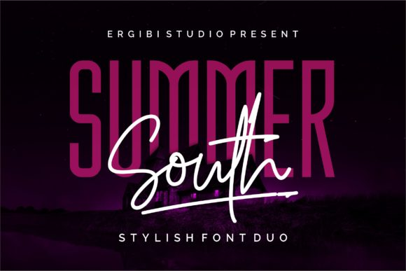 Print on Demand: Summer South Duo Script & Handwritten Font By ergibi studio