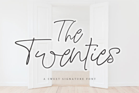 Print on Demand: The Twenties Script & Handwritten Font By Ayca Atalay
