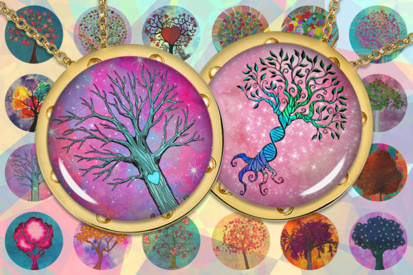 Tree of Life Colorful Tree Graphic Crafts By denysdigitalshop