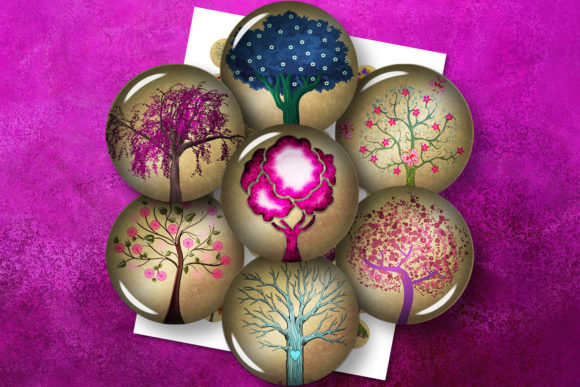 Tree of Life Colorful Trees Graphic Crafts By denysdigitalshop