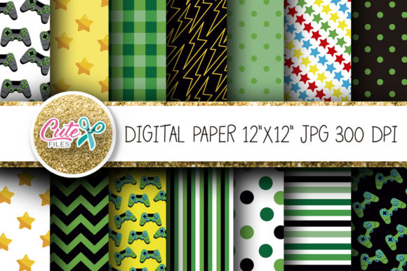 Video Game Digital Paper for Scraobookin Graphic Textures By Cute files - Image 1