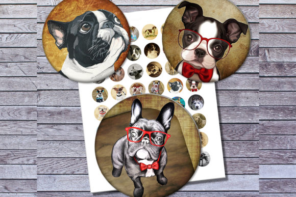 Vintage Dogs Dogs Images Digital Collage Gráfico Crafts Por denysdigitalshop