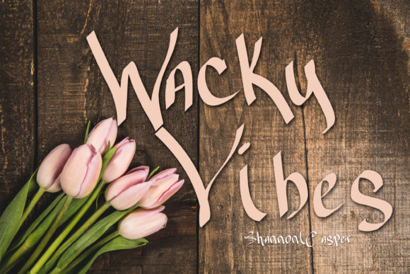 Print on Demand: Wacky Vibes Script & Handwritten Font By Shannon Casper