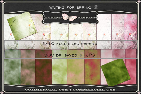 Print on Demand: Waiting for Spring 2 Graphic Textures By KarenP.Designs