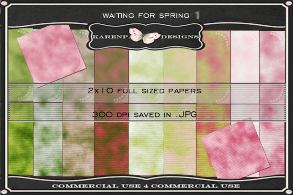 Print on Demand: Waiting for Spring Graphic Textures By KarenP.Designs
