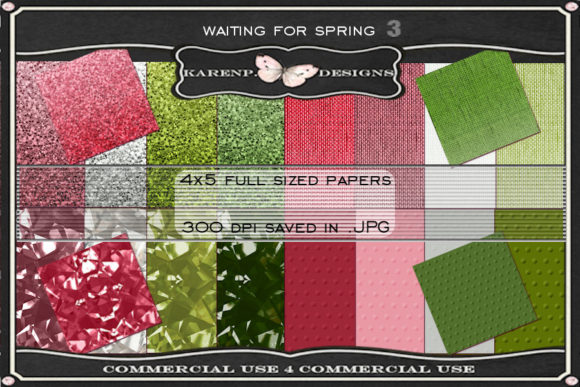 Print on Demand: Waitinng for Spring 3 Graphic Textures By KarenP.Designs