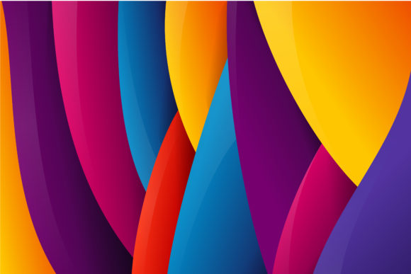 Print on Demand: Abstratc Colorful Background Curve Graphic Backgrounds By noory.shopper