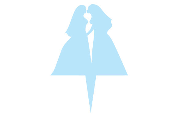 Download Free Silhouette Wedding Cake Topper Svg Cut File By Creative Fabrica for Cricut Explore, Silhouette and other cutting machines.