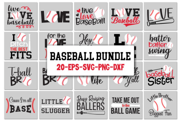 Baseball Bundle Graphic Crafts By All About Svg