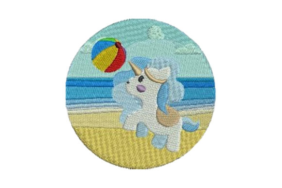 Beach Unicorn Beach & Nautical Embroidery Design By Embroidery Designs - Image 1