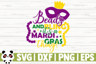 Print on Demand: Beads and Blings It's a Mardi Gras Thing Graphic Illustrations By CreativeDesignsLLC