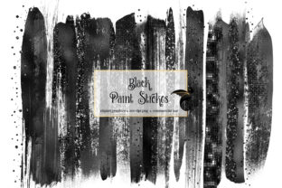 Print on Demand: Black Brush Strokes Clipart Graphic Illustrations By Digital Curio