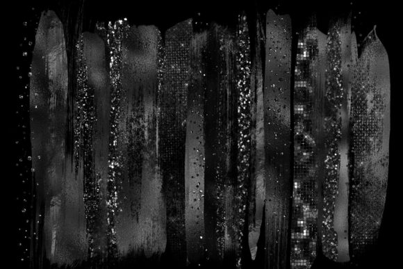 Black Brush Strokes Clipart Graphic Illustrations By Digital Curio - Image 2