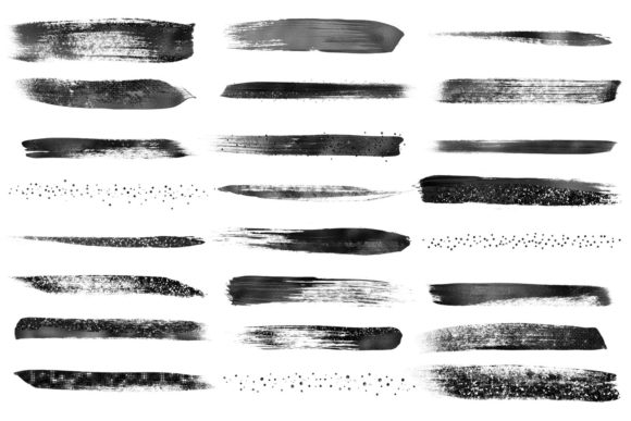 Black Brush Strokes Clipart Graphic Illustrations By Digital Curio - Image 3