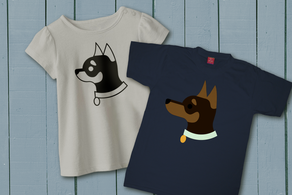 Download Free Black And Tan Chihuahua Min Pin Face Graphic By Risarocksit for Cricut Explore, Silhouette and other cutting machines.