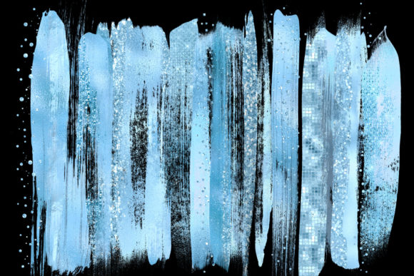 Blue Brush Strokes Clipart Graphic Illustrations By Digital Curio - Image 2