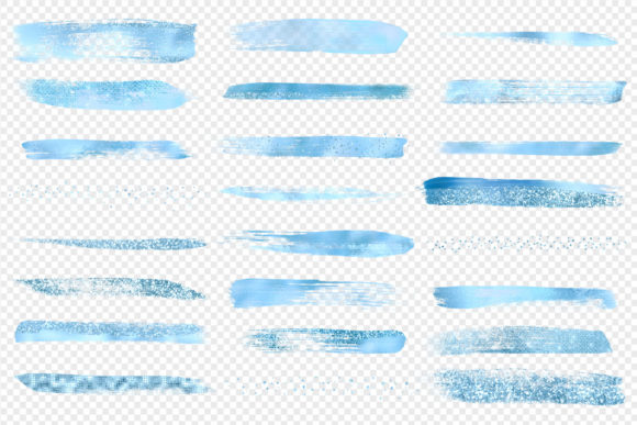 Blue Brush Strokes Clipart Graphic Illustrations By Digital Curio - Image 3