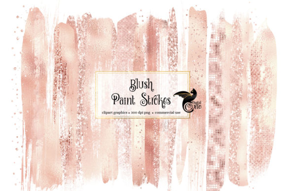 Blush Paint Strokes Clipart Graphic Illustrations By Digital Curio