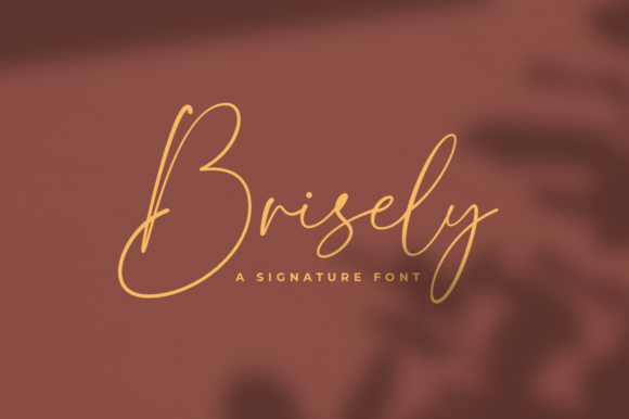 Print on Demand: Brisely Script & Handwritten Font By Suby Store