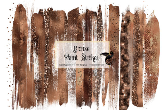 Bronze Brush Strokes Clipart Graphic Illustrations By Digital Curio